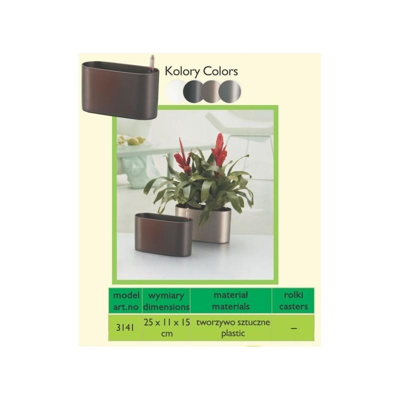 Doniczka Z Systemem Nawadniania Oval Flower Pot Terdens Sc