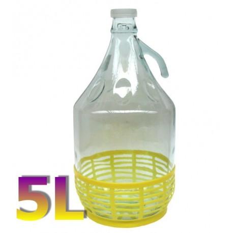 Balon Dama z uchwytem w koszu plastikowym 5 L