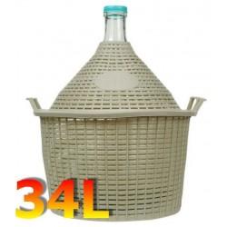 Balon do wina 34 L w koszu plastikowym